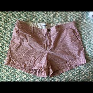 Old Navy red sheer sucker shorts